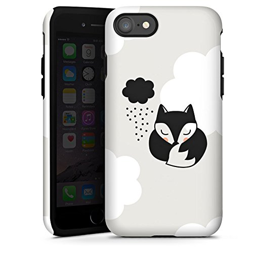 Apple iPhone X Silikon Hülle Case Schutzhülle Fuchs Schlafen Wolke Tough Case glänzend