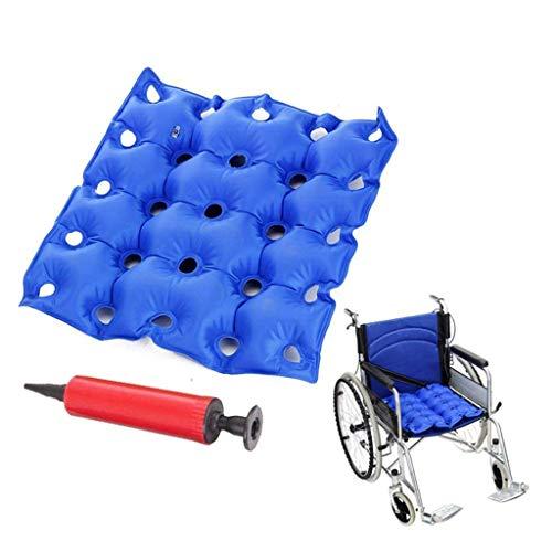 TWL LTD-Wheelchairs Air Inflatable Seat Cushion, Heißsiegelkonstruktion für Strapazierfähigkeit, Kissen für Rollstuhlfahrer und Schmerzlinderung Durch Druckpunkte im Alltag -