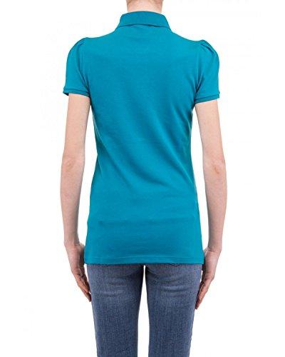 8920dcf6a629 BURBERRY BRIT Polo pour Femme YSM70254 Bleu Hydrojen Blue Dégagement ...