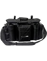 Armeeverkauf–Bolsa de Operaciones para policía con Tirante y Compartimentos Negro Security Bag Seguridad Servicio.