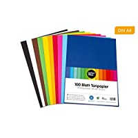 perfect ideaz 100 sheets Tinted Drawing Paper, A4 size (8.27 x 11.69 in), Tone Coloured Paper, in 10 different solid colours, 130 g/m², Quality sheets