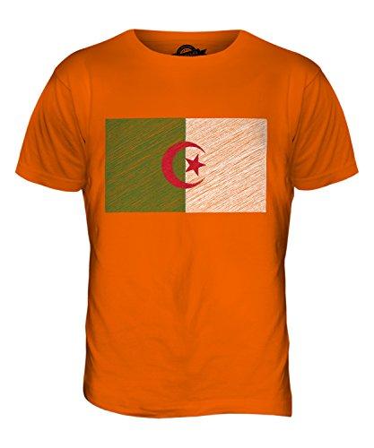 CandyMix Algerien Kritzelte Flagge Herren T Shirt Orange