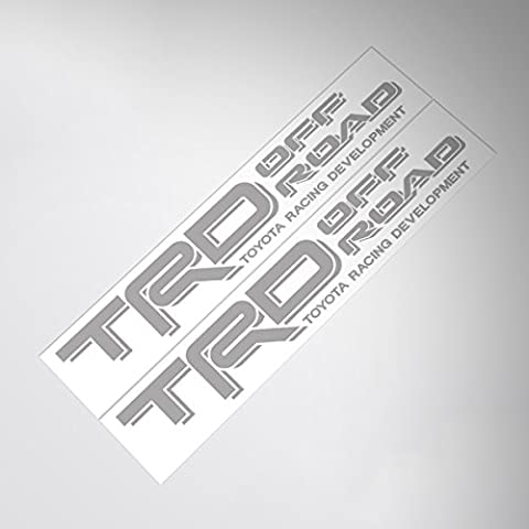 Demupai TRD Off Road Decal Vinyl Car Stickers (Silver Letter)