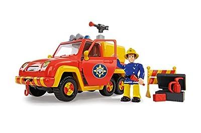 Simba 109257656 - Feuerwehrmann Sam Feuerwehrauto Venus mit Figur und Originalsound