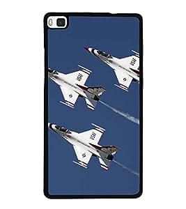 PrintVisa Designer Back Case Cover for Huawei P8 (USAF Thunderbirds Fighter Jets Sky)
