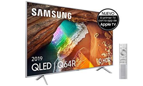 Samsung QLED 4K 2019 55Q64R - Smart TV de 55' con Resolución 4K UHD, Supreme Ultra Dimming, Q HDR, Inteligencia Artificial 4K, Diseño Metalico, Premium One Remote, Apple TV y Compatible con Alexa