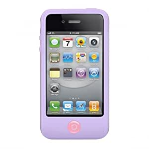 SwitchEasy SW-COL4-LC  Coque en Silicone pour iPhone 4 Mauve
