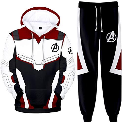 FLYCHEN Jungen Bekleidungssets Endgame Avengers Anzug Quantum Realm Kleidungssets (Hoodie,M)