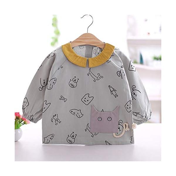 YuJian12 - Babero de Manga Larga para bebé (algodón, Resistente al Agua), G, M 73-80CM Baby 3