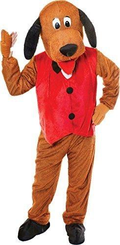 Erwachsene Animal Verkleidung Kostümparty Mascot Outfit Hund Großer Kopf Mit Weste (Kostüm Avec Gilet)