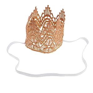 MagiDeal Baby Elastisches Kronen Stirnband Tiara Haarband