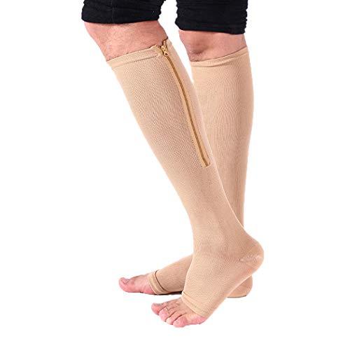 FORLADY Compression Socken Männer/Frauen Beinstütze Stocking Kniestrümpfe Stretch Strümpfe Atmungsaktive Schweiß-saugfähige Lauf Mode Fitness Socken