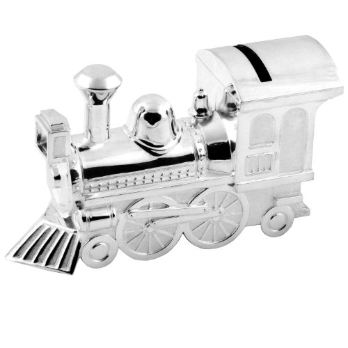 The Juliana Collection Christening Gifts. Boys Girls. Silver Train Money Box 6289