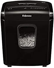 Fellowes 6M - Destructora trituradora de papel, Mini-Corte, 6 hojas. Para hogar y oficina en casa, con bloqueo