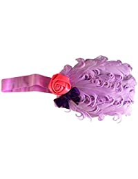 NeedyBee Elastic Headband with Feather Embellishment Hair Accessory for kids/girls(Kids Hair Accessories)