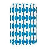 50 platos, de cartón cuadradas 13 cm x 20 cm 'bávaro azules' de octubre de lado a platos desechables