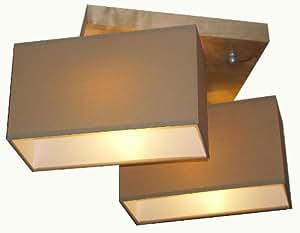 2 flammige deckenlampe rom holz kiefer k che haushalt. Black Bedroom Furniture Sets. Home Design Ideas