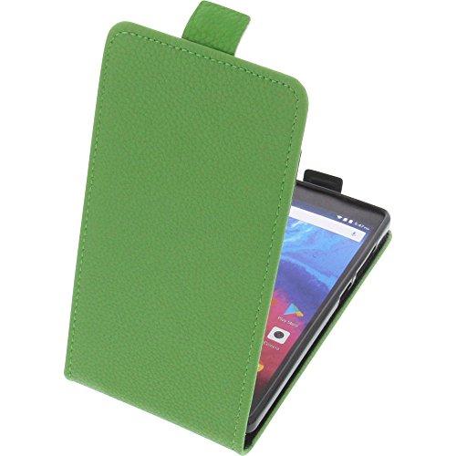 foto-kontor Tasche für Archos Core 50 Smartphone Flipstyle Schutz Hülle grün