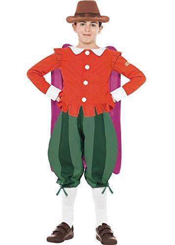 Fawkes Kostüm Dress Fancy Guy - Schreckliche Geschichten Guy Fawkes Kostüm Large (10-12 years)