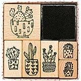 Set di timbro di cactus