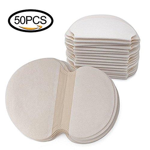 Almohadillas absorbentes desechables para las axilas Mobengo contra el sudor, la transpiración y los olores, 50unidades (25pares)