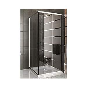 duschabtrennung mit rahmen dusche duschkabine 100x100x190 alpenberger echtglas eckeinstieg. Black Bedroom Furniture Sets. Home Design Ideas