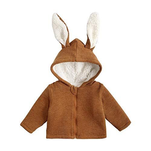 (12M-5T) Plus Samt Dicke Kaninchenjacke Mit Kapuze, Nette Kinder Jungen Mädchen Herbst Winter Mit Kapuze Mantel Mantel Dicke Warme Kleidung 4t Jacke