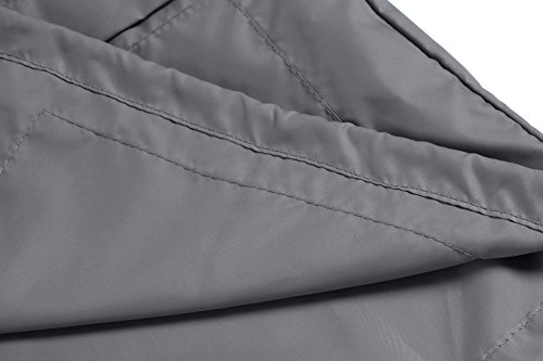 Caeasar Funktionsjacke Wasserdicht Winddicht Übergangsjacke Regenjacke mit Kapuze Tasche Regenparka Atmungsaktiv Damen Jacke Grau