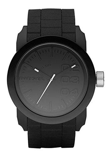Diesel Herren-Armbanduhr Analog Quarz One Size, schwarz, schwarz