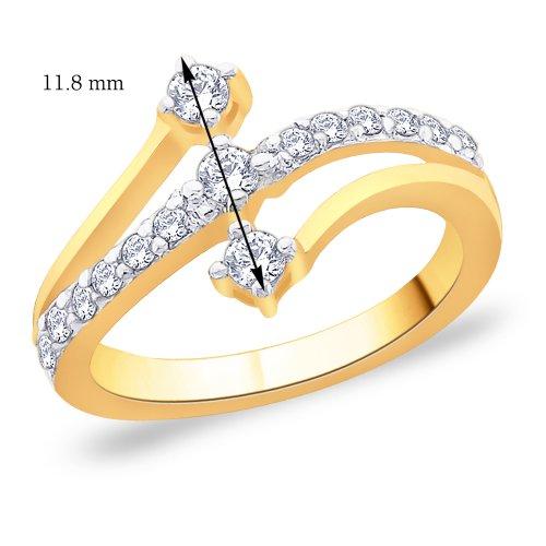 Peora 925 Silver 18 Karat Gold Plated Ring made with SWAROVSKI ZIRCONIA for Women