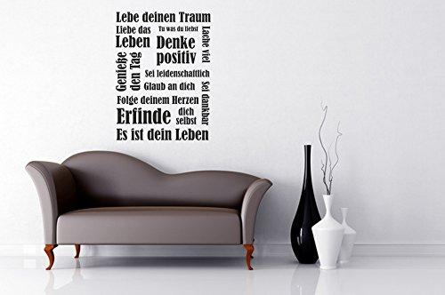 Wandtattoo Wandbanner Lebe deinen Traum Nr 2 Wandtattoo Banner Größe 50×67