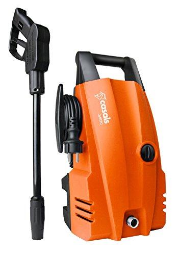 Casals C63009000 Hidrolimpiadora 1400 W (105 Bares de presión máxima, caudal de 300 l/h hasta 375 l/h, depósito para detergente Incorporado, conectable al Circuito de Agua Corriente), Naranja