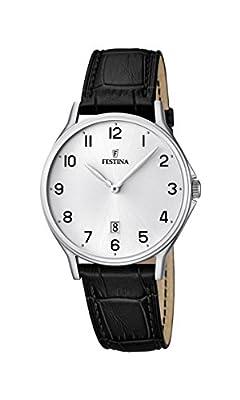 University Sports Press F16745/1 - Reloj de cuarzo para hombre, con correa de cuero, color negro de University Sports Press