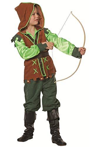 narrenkiste W3338-164-A Kinder Mädchen Junge Robin Hood Kostüm Jäger Anzug Gr.164 (Jäger Girl Kostüm)