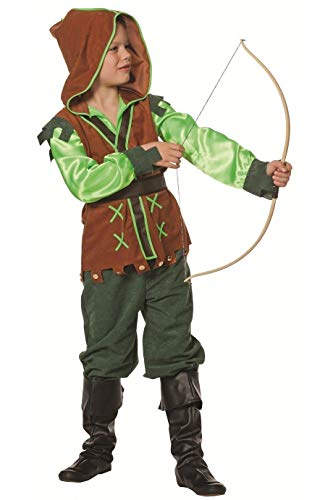 4-A Kinder Mädchen Junge Robin Hood Kostüm Jäger Anzug Gr.164 ()