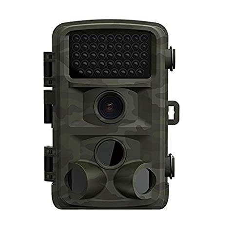 Moxo aucune lueur 12MP Trail & Jeu Camera HD 1080p longue portée animaux sauvages de chasse appareils photo avec écran LCD de 6,1cm et grand angle de 120° Détecteur de mouvement longue portée vision de nuit infrarouge Caméra de chasse IP56Spray Motif protégé d