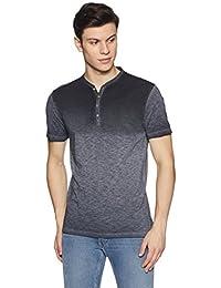 Peter England Men's Printed Slim Fit T-Shirt