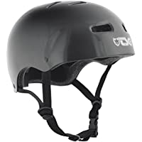 TSG Skate/BMX Solid Color - Casco para monopatín, color negro, talla L/XL