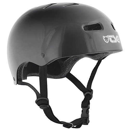 TSG Helm Skate BMX Injected Colors Halbschalenhelm, Black, L/XL -
