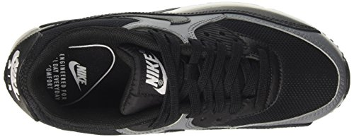 Nike Damen Air Max 90 Gymnastikschuhe Schwarz (Black/Black-Cool Grey-Black)