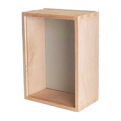IKEA BAS Bilderrahmen mit Einschiebescheibe 13x18cm 7cm tief Setzkasten