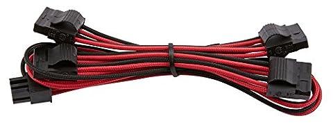 Corsair 4 Pin Peripheral Type 4 PSU Cable Red/Black