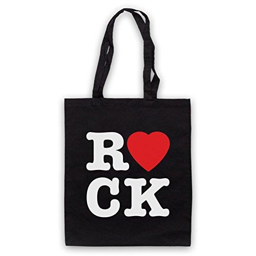 I Love Rock Slogan Umhangetaschen Schwarz