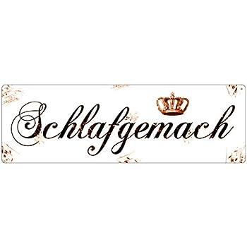 METALLSCHILD Shabby Blechschild Türschild KALORIENREICH Vintage Dekoschild Küche