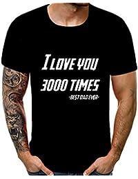 80644324fd0e4 Blling T-Shirt à Manches Courtes Imprimé en 3D,Hommes éTé Neufs Impression  3D