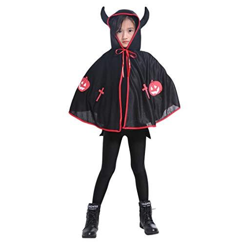 FORH Halloween Kleidung Shawl Kinder Ochsenhorn Umhang Erwachsene Kinder Cape Robe Halloween Baby Kostüm Lustige Kleid Perfekt Anzieh dich für Halloween
