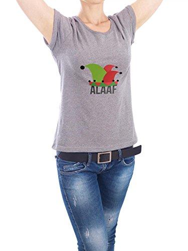 """Design T-Shirt Frauen Earth Positive """"Alaaf I"""" - stylisches Shirt Typografie Städte Städte / Köln von Klüngel Peter Grau"""