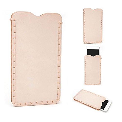 Kroo Étui ultra fin en cuir véritable pour téléphone portable Sony Xperia C3Dual Marron - peau Marron - peau