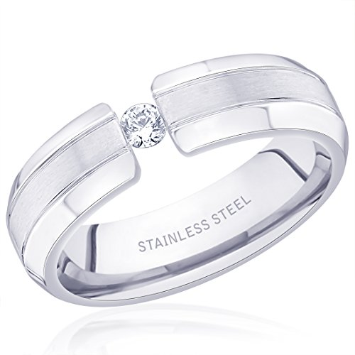 Diwali Gifts Peora 316L Stainless Steel Matte Hatter Ring for Men  available at amazon for Rs.450