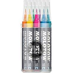 Molotow 200285- Juego de 12 rotuladores de tinta al agua GrafX
